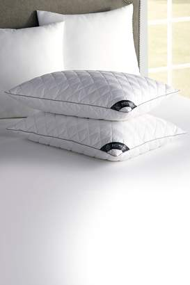 Rio Home BEHRENS England Diamond Quilt Pillow - Set of 2 - White