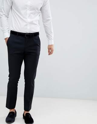 Burton Menswear Skinny Fit Smart Pants In Black