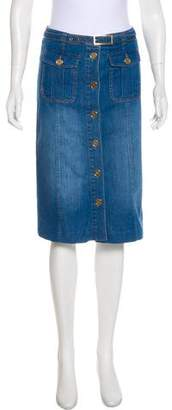 Reiss Denim Knee-Length Skirt