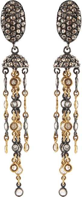 Yossi Harari Topkapi Chain Diamond Earrings