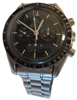 Omega Speedmaster Stainless Steel Watch $2,500 thestylecure.com