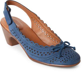 Easy Spirit Dutch Blue Chatt Laser Cut Slingback Sandals