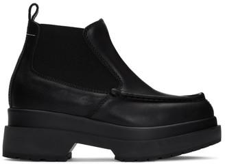 MM6 MAISON MARGIELA Black Double Sole Boots