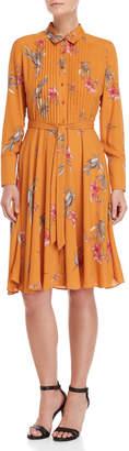 Nanette Lepore Nanette Printed Pintuck Shirt Dress