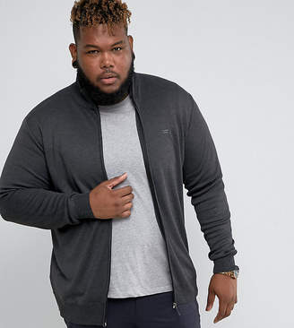 Duke King Size Knitted Track Jacket In Charcoal