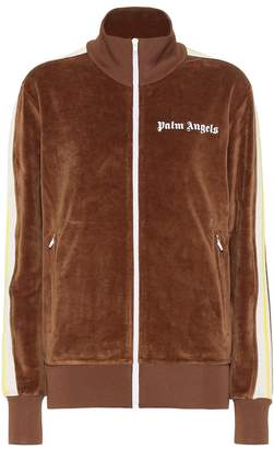 Palm Angels Logo velour track jacket