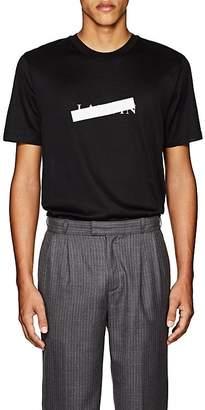 Lanvin Men's Crossed-Out-Logo Cotton T-Shirt