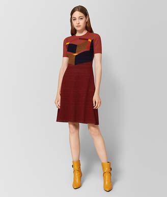 Bottega Veneta DECO ROSE WOOL DRESS