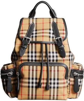 Burberry The Medium Rucksack in Vintage Check Cotton Canvas