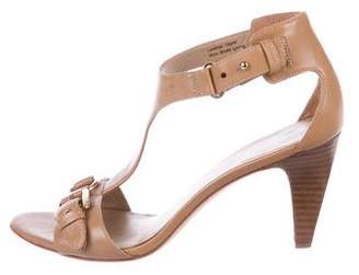 Via Spiga Leather Ankle Strap Sandals
