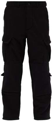 Vetements Fleece Police Cargo Trousers - Mens - Black