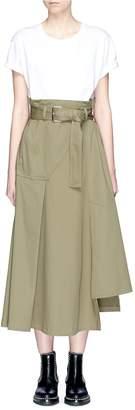 3.1 Phillip Lim T-shirt panel belted paperbag waist midi dress