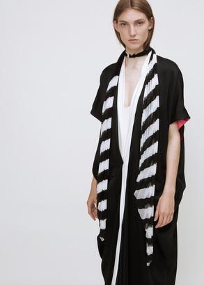 Haider Ackermann black / white plisse knot scarf $720 thestylecure.com