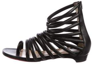 Christian Louboutin Multi-strap Leather Sandals