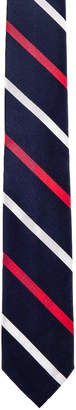 Thom Browne Classic Banker Stripe Necktie in Red & White & Blue | FWRD