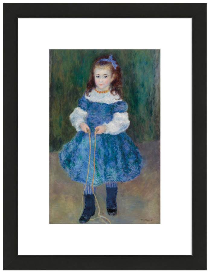McGaw Graphics Girl with a Jump Rope (Portrait of Delphine Legrand), 1876 by Pierre-Auguste Renoir (Framed Print)