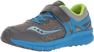 Saucony Kids Velocity A/C Running Shoes, Silver/Turq