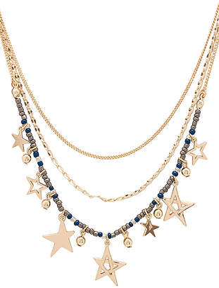 Rebecca Minkoff Multi Star Delicate Necklace