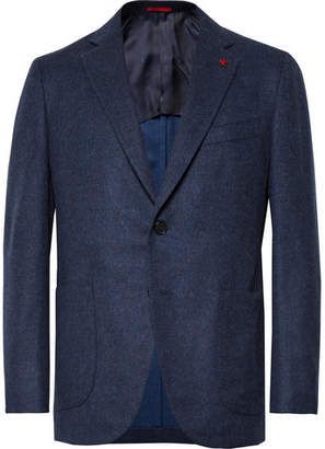 Isaia Storm-Blue Slim-Fit Wool and Cashmere-Blend Blazer - Storm blue