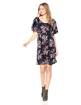 Lucky Brand Women's Printed Ruffle Dress in Pink Multi