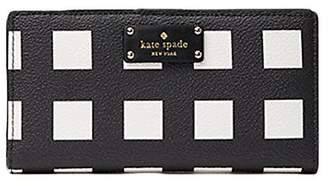 Kate Spade New York Grove Street Stacy Printed Pop Art Check Wallet Purse Bag; Black/White