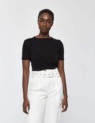 Lemaire Soft Tee in Black