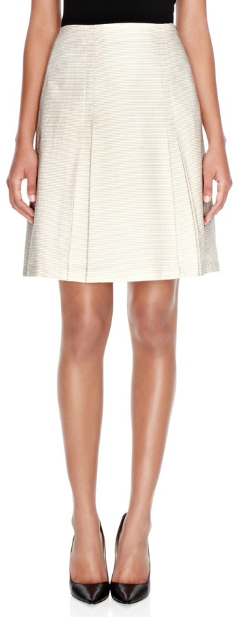 The Limited Striped A-Line Skirt