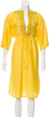 La Perla Embroidered Midi Dress w/ Tags $145 thestylecure.com