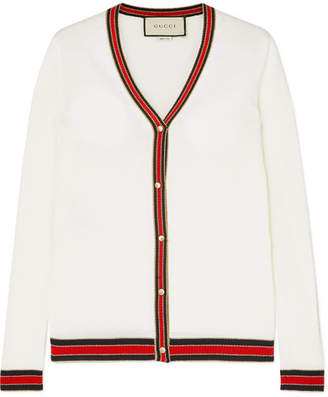 Gucci Striped Wool Cardigan - Ivory e8249ed7a