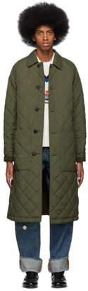 Burberry Reversible Green and Khaki Ableford Coat
