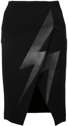 Neil Barrett Lightning bolt skirt