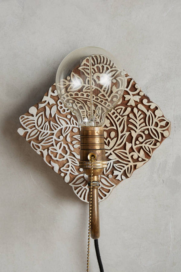 AnthropologieAnthropologie Carved Wood Sconce