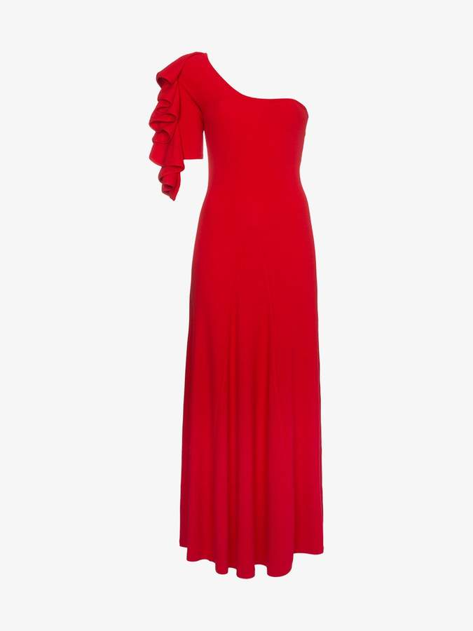 Beaufille Dione ruffle one-shoulder dress