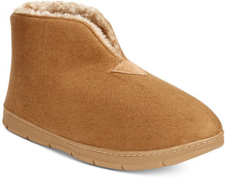 Club Room Men's Faux Suede Bootie Slippers, Only at Macy's $45 thestylecure.com
