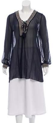 Calypso Sheer Silk Tunic