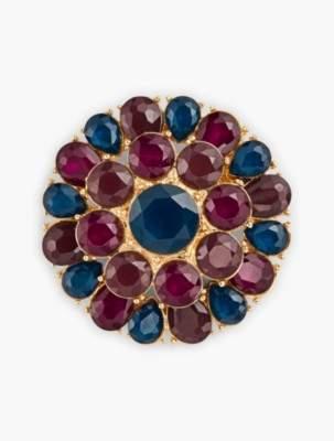 Talbots Colorful Crystal Brooch