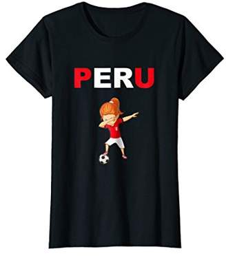 Peru Cheer Jersey 2018 - Peruvian Dabbing Football Woman Tee