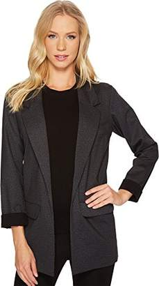 Liverpool Jeans Company Women's Boyfriend Blazer in Heather Tweed Ponte Knit