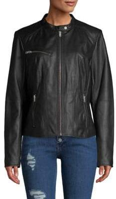 Andrew Marc Classic Leather Motorcycle Jacket