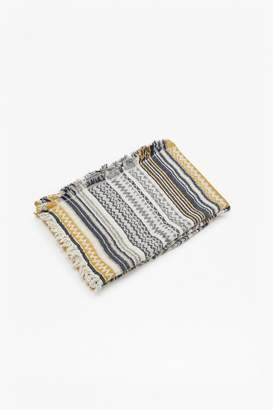 French Connection Mustard Aztec Patterned Throw