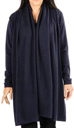 Black Midnight Navy Longline Cashmere Cardigan