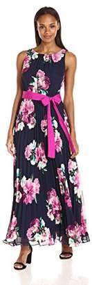 Jessica Howard Women's Pleated Maxi Dress