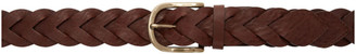 Ami Alexandre Mattiussi Brown Braided Belt