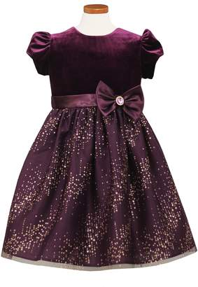 Sorbet Velvet Bodice Fit & Flare Dress