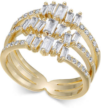 INC International Concepts I.n.c. Gold-Tone Crystal Stack Ring