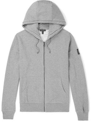 Belstaff Wentworth Melange Loopback Cotton-Jersey Zip-Up Hoodie - Men - Gray