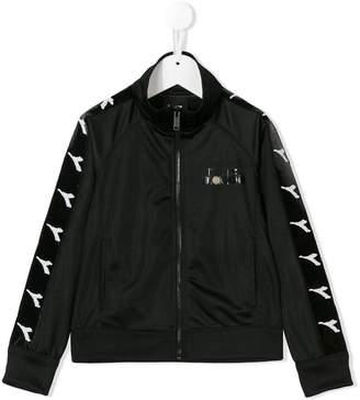 Diadora Junior logo zipped sweatshirt