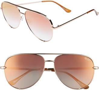 Quay x Desi Perkins High Key 62mm Aviator Sunglasses