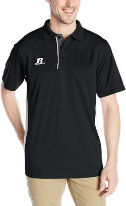 Russell Athletic Men's Game Day Polo, Black/White