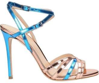 Lerre Metallic Blue Bronze Sandals